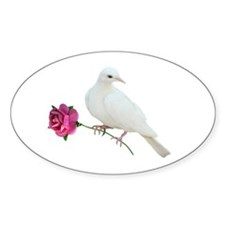 Dove Rose Decal