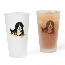 Bernese Mountain Dog Bright Eyes Drinking Glass