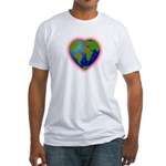 Earth Heart Fitted T-Shirt