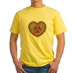 Biohazard Heart Yellow T-Shirt