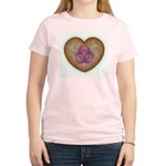 Biohazard Heart Women's Pink T-Shirt