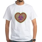Biohazard Heart White T-Shirt