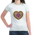 Biohazard Heart Jr. Ringer T-Shirt