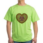 Biohazard Heart Green T-Shirt