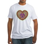 Biohazard Heart Fitted T-Shirt