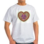 Biohazard Heart Ash Grey T-Shirt