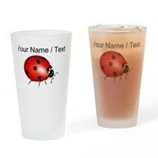 Custom Ladybug Drinking Glass