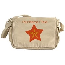 Custom Orange Starfish Messenger Bag