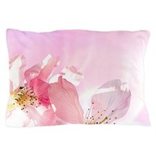 Pink Sakura Flower Pillow Case