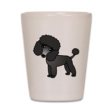 Cute Poodle Black Coat Shot Glass