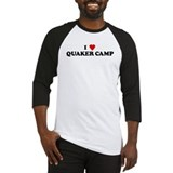 I Love QUAKER CAMP Baseball Jersey