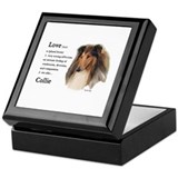 Rough Collie Gifts Keepsake Box