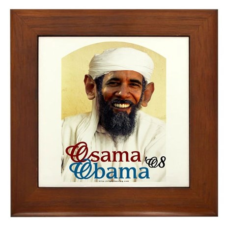 Osama Obama '08 Framed Tile