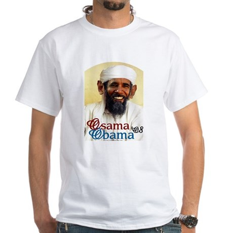 Osama Obama '08 White T-Shirt