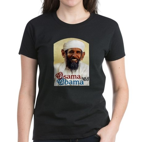 Osama Obama '08 Women's Dark T-Shirt