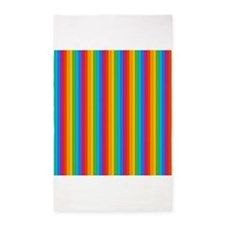 Rainbow Wall 3x5 Area Rug