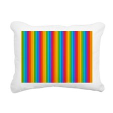 Rainbow Wall Rectangular Canvas Pillow