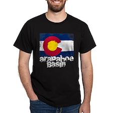 Arapahoe Basin Grunge Flag T-Shirt