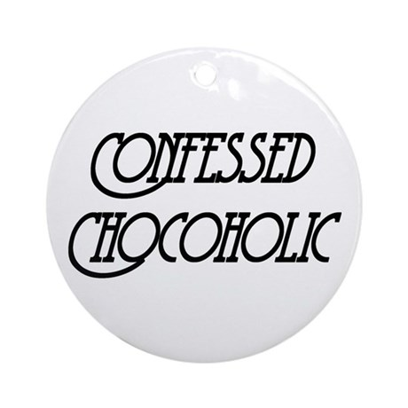 Confessed Chocoholic Ornament (Round)