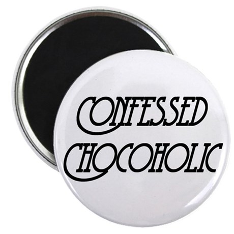 "Confessed Chocoholic 2.25"" Magnet (10 pack)"