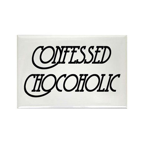 Confessed Chocoholic Rectangle Magnet (100 pack)