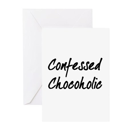 Confessed Chocoholic Greeting Cards (Pk of 10)