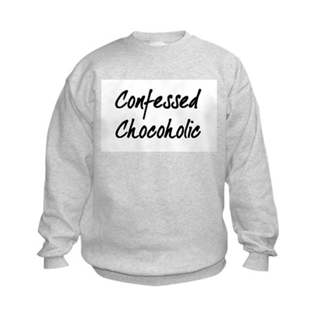 Confessed Chocoholic Kids Sweatshirt