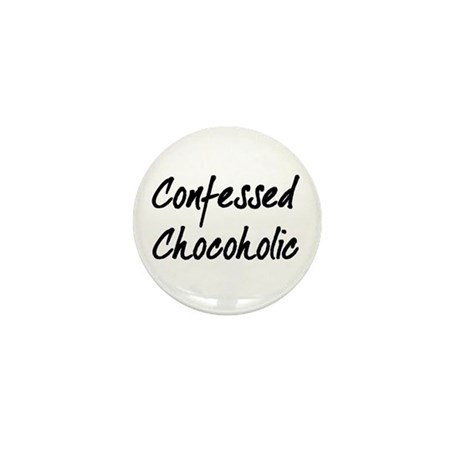 Confessed Chocoholic Mini Button (10 pack)