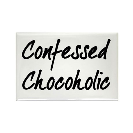 Confessed Chocoholic Rectangle Magnet