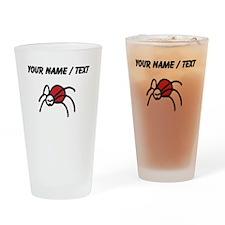 Custom Ladybug Drawing Drinking Glass