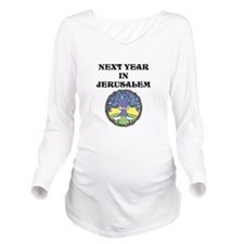 Next Year in Jerusalem Long Sleeve Maternity T-Shi