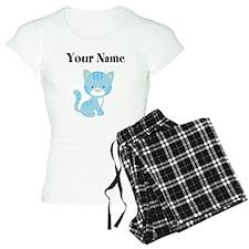 Personalized Blue Cat pajamas