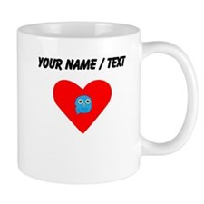 Custom Light Blue Owl Heart Mugs