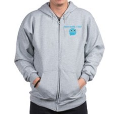 Custom Sky Blue Owl Zip Hoody