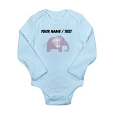 Custom Purple Plaid Elephant Body Suit