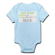 Party at my crib green Infant Bodysuit