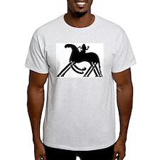 Odin on Sleipnir Ash Grey T-Shirt