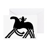 Odin on Sleipnir Greeting Cards (Pk of 10)