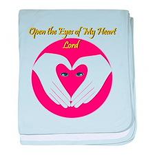 Open he Eyes of My Heart Lord baby blanket