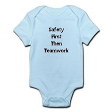 Safety First Then Teamwork Body Suit
