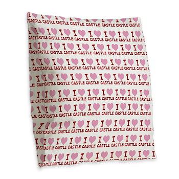 IheartCastle Burlap Throw Pillow