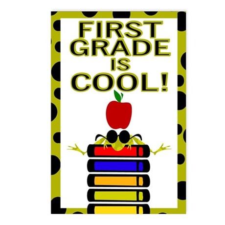 FIRST GRADE IS COOL! Postcards (Package of 8)
