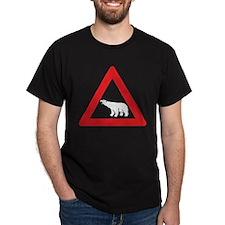 Polar Bear Road Sign T-Shirt