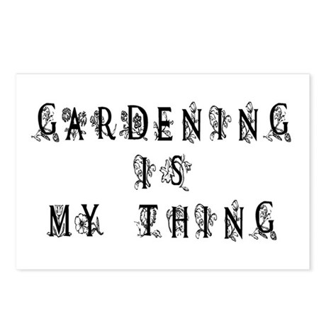 Gardening is My Thing Postcards (Package of 8)