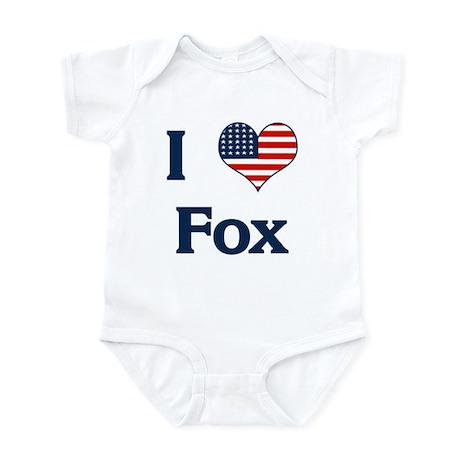 I Love Fox Infant Bodysuit