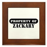 Property of Zackary Framed Tile