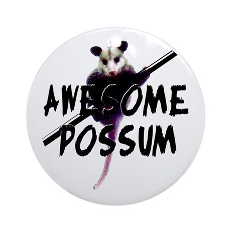 Awesome Possum Ornament (Round)