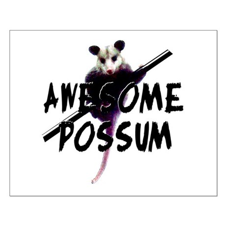 Awesome Possum Small Poster