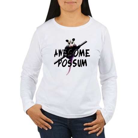 Awesome Possum Women's Long Sleeve T-Shirt