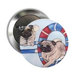 Agility Chinese Pugs Button